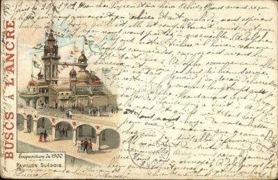 1900 Paris Expo Universelle Buscs A L'Ancre Advertising Used Postcard/Cover #2