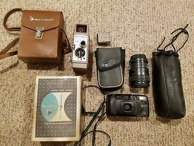 Lot of VINTAGE Photo equipment -- Bell & Howell, Ricoh, etc. Fast shipping!
