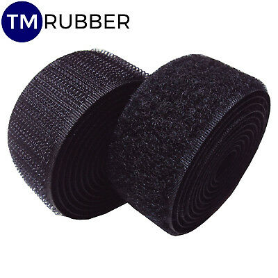 25mm 50mm  Heavy Duty Strong Sew on Hook And Loop Fastening Tape Black