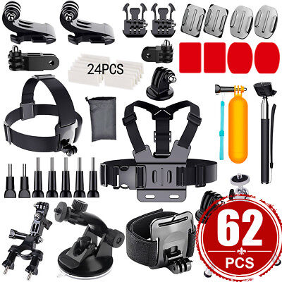 Go pro Monopod Accessories Pack Case Chest Head For Gopro Hero 5 4 3 3+ 2 Camera