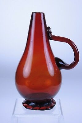 Unfinished Clevenger Pitcher w/ crimped foot circa 1930-45 South Jersey COLOR!