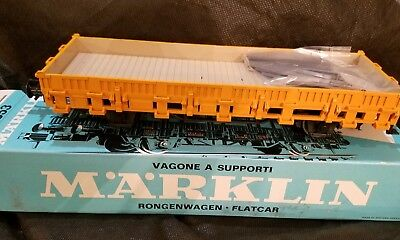 Märklin 5853 1 Gauge Freight Car Stake Wagon New Original Box Yellow