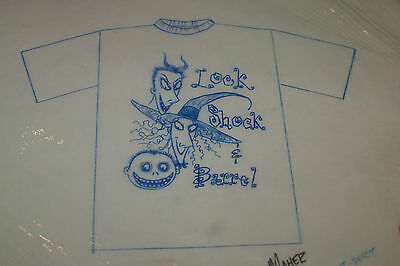 Nightmare Before Christmas Alex Maher Signature Petail Drawing For Shirt Rare