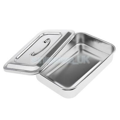 9'' Dental Instruments/ Medical Stainless Steel Sterilizer Box Dish With Lid