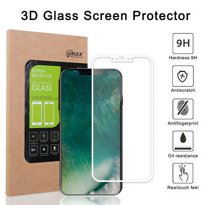 Genuine 3D Anti Scrach Tempered Glass Screen Protector Guard for Apple iPhone X
