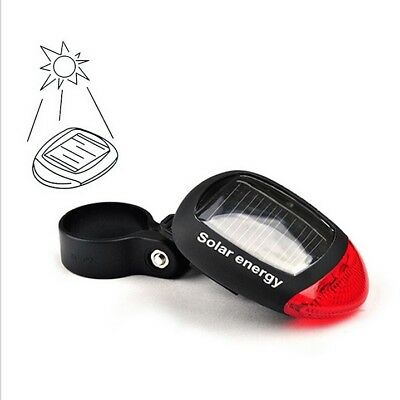 Solar Energy LED TailLight Warning Light f/ Bicycles Motorcycles Cars Sleep Tent