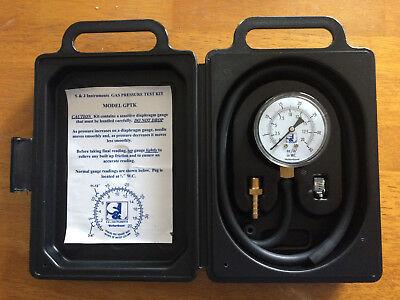 S&J GPTK Gas Pressure Test Kit,  0-35WC with 39 In. hose (includes barb & clamp)