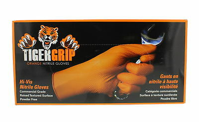 Eppco Tiger Grip Orange Nitrile Gloves 7 Mil Size XXL