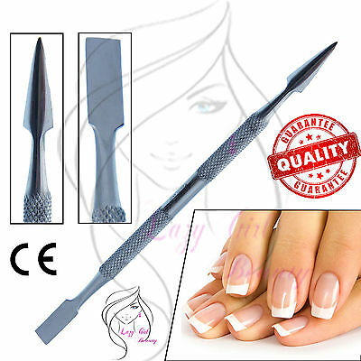Stainless Steel Metal Nail Pusher Cuticle Scraper Polish Gel Remover Manicure