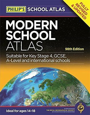 Philip's Modern School Atlas: 98th Edition (Philip's School Atlases) By Philips