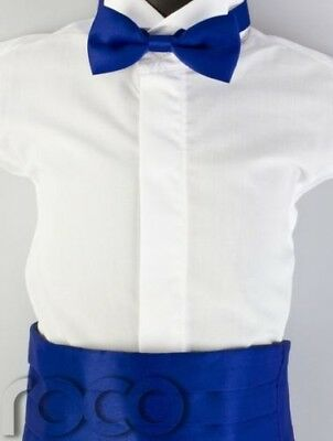 Boys Blue Cummerbund & Dickie Bow Set, Boys Dickie Bow Tie, Boys Accessories