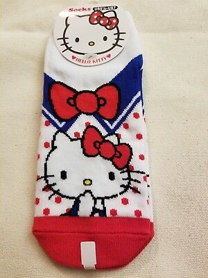 184231236 SANRIO SOCKS ADULT Hello Kitty Red White Blue Bow - $5.99 | PicClick