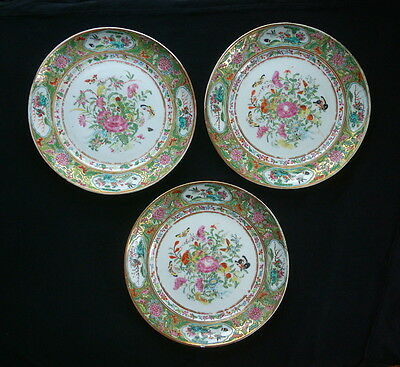 Set of Three Antique Chinese Export Porcelain Plates
