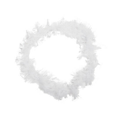 White Feather Boa Fluffy Craft Decoration 6.6 Feet Long B4V1