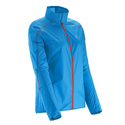Veste running femme SALOMON S-LAB LIGHT JACKET W METHYL BLUE neuve taille S