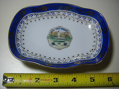 Antique 19th Century Very Rare Gettysburg Painted Tourist Plate/Bowl  small