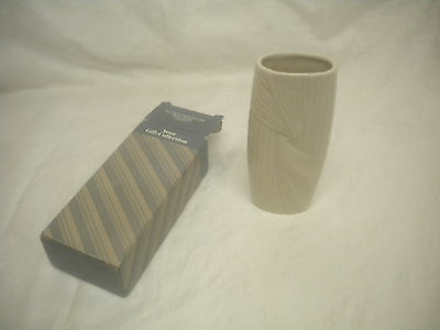 Avon Fluted Porcelain Bud Vase Ivory Avon's Gift Collection - look's unused