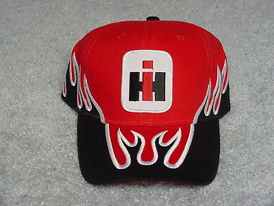 Ih International Harvester Logo Black Red Winter Adult Ball Cap Hat New