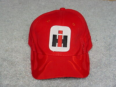 Ih International Harvester Logo Red Ghost Flame Winter Adult Ball Cap Hat New