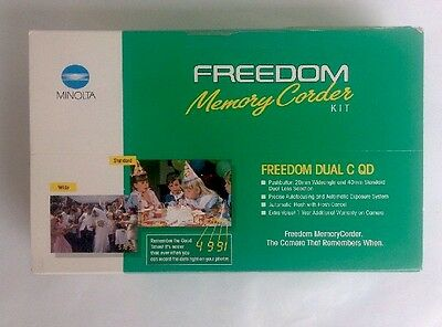 Minolta Freedom Memory Corder Pushbutton Auto 28mm 40mm Standard Dual Lens Flash