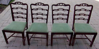 4 Antique Vintage Duncan Phyfe Chairs 1920-1940S