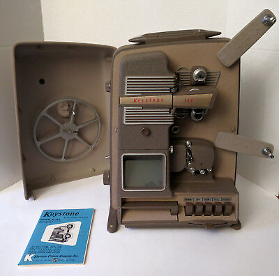KEYSTONE K-110 8mm Movie Projector Editor 1950s VINTAGE RARE WORKING