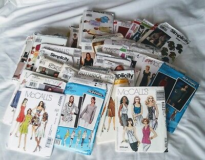 Mix Lot of 50 Sewing Patterns, womens, Men Mix Brands Simplicity Etc. & Sizes