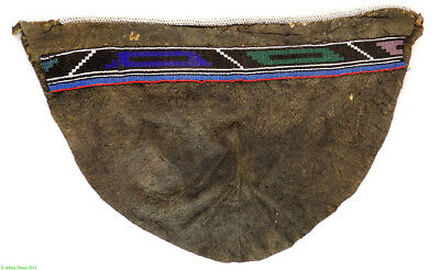 Ndebele Beaded Back Leather Apron South African Art