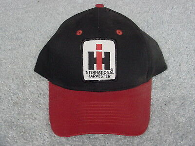 Ih International Harvester Logo Red Black Winter Adult Ball Cap Hat New