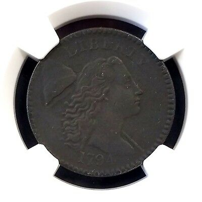 1794 Liberty Cap Large Cent certified AU Details by NGC!