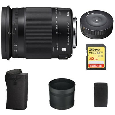 Sigma 18-300mm F3.5-6.3 DC Macro OS HSM Lens Contemporary for Nikon w/ Dock Kit