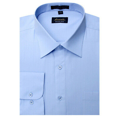 Long Sleeve Dress Shirts for Men Modern Fit Wrinkle-Free Cotton Blend Opened