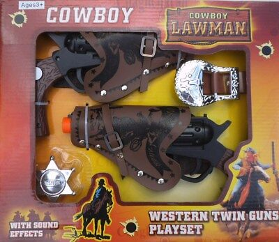 Cowboy - Lawman - Western Twin Guns Playset (Battery Operated)