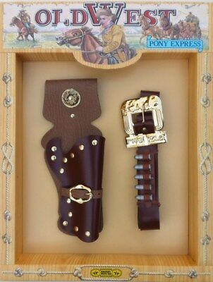 Old West - Pony Express - Single Cowboy Holster Set (For Toy Guns)