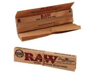 32 x Raw Connoisseur King Size Slim Rolling Papers Include Filter Tips