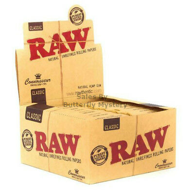 5 Booklets X Raw Connoisseur King Size Slim Rolling Papers Include Filter Tips