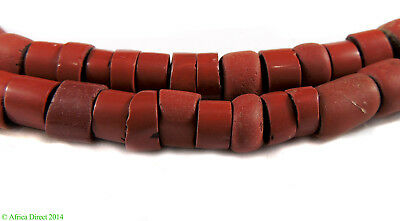 Red Greenhearts Venetian Trade Beads Africa 29 Inch