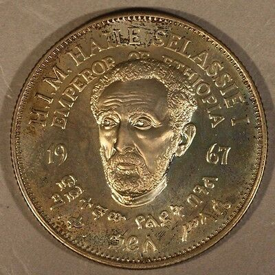 1967 Ethiopia Crown Proof, Selassie 75th B-Day Comm.  ** FREE U.S SHIPPING **