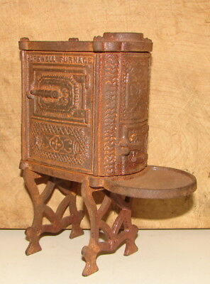 """Vintage """"hopewell Furnace"""" Cast Iron Toy Heating Stove"""