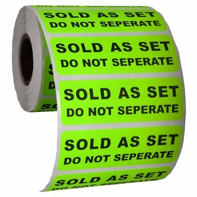 """Sold as a Set Do Not Separate Labels Stickers by Kenco 3"""" X 1"""" Fluorescent Green"""