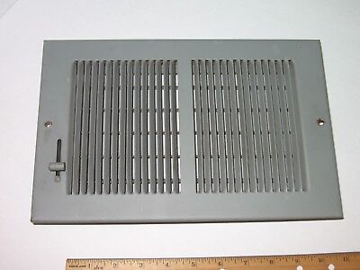 Vintage Metal Heat AC Vent Register Cover Grate Louvered Open Close