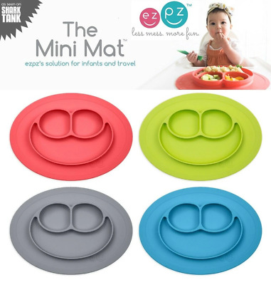 EZPZ - Mini Mat - Placemat & Plate in One - Choose Color - Suction Travel Baby
