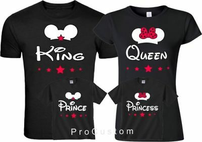 King  Queen Prince Princes Mickey and Minnie FAMILY Cute matching T-Shirts