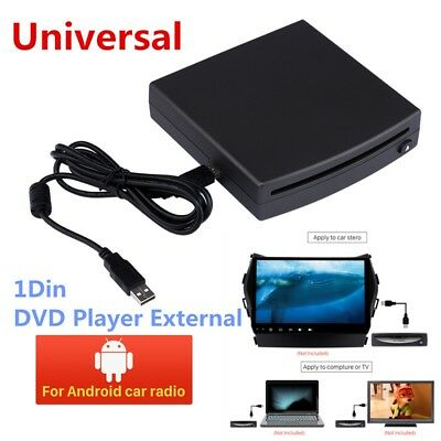 HD 1Din Car Radio Video Stereo DVD Player External Interface USB Connect Android