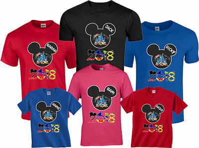 New Disney Family Vacation 2018 T-Shirts With Custom Names