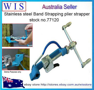 Band Strapping Pliers Tool Strapper Wrapper/Packer Manual Binding Metal Tie Tool
