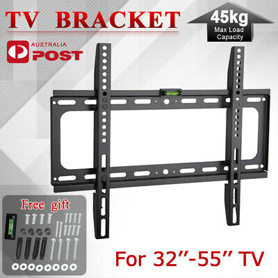 Slim TV Wall Mount Bracket 32 40 42 46 47 50 52 55 LCD LED Plasma VESA