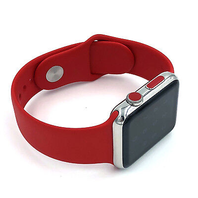 Set of 2 red dot LTE style for Apple Watch 38mm / 42mm series 0,1,2,3,
