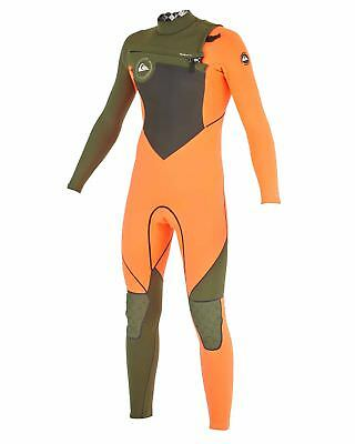 NEW QUIKSILVER™  Boys 8-16 AG47 Performance 3/2mm Flatlock Steamer Wetsuit 2015