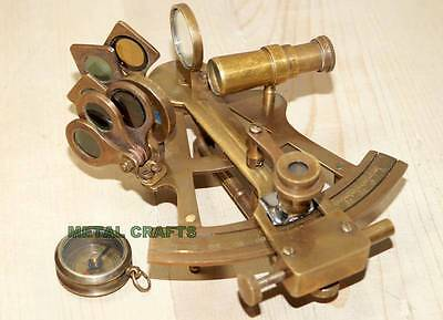 Vintage Brass Compass Army Sextant 4 Ship Gps Collectible Sextant Toy Gifts